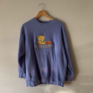 Vintage Purple WB Tweety Sweatshirt